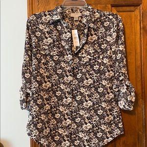 Ann Taylor LOFT floral blouse